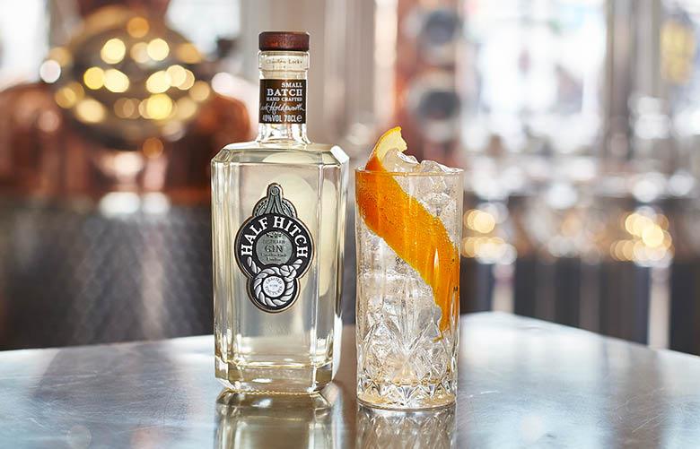 Camden Market drink - Half Hitch gin with orange peel