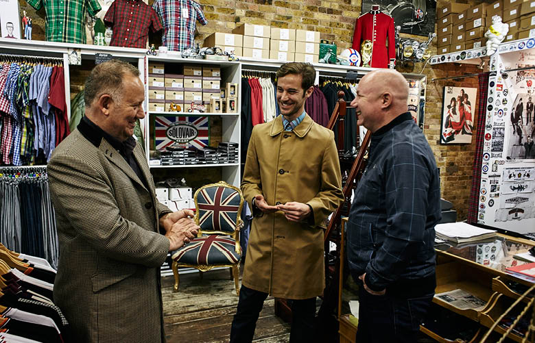 Camden Market fashion - Modfather founders Mario and Daniel Warner