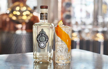 Camden Market drink - Half Hitch gin with orange peel