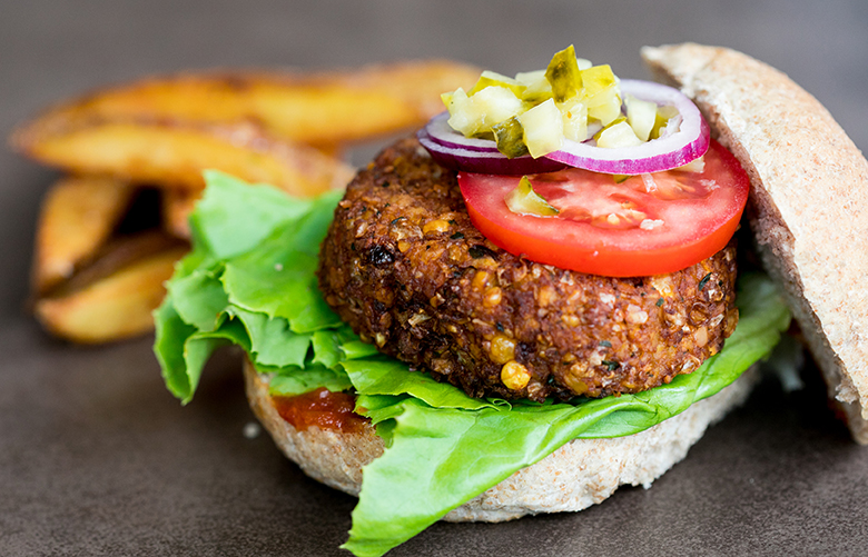 V burger vegan fast food camden market for Stage cuisine vegan