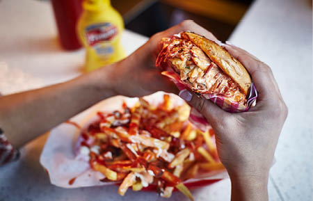Camden Market food - Ghetto Grillz Reuben bagel