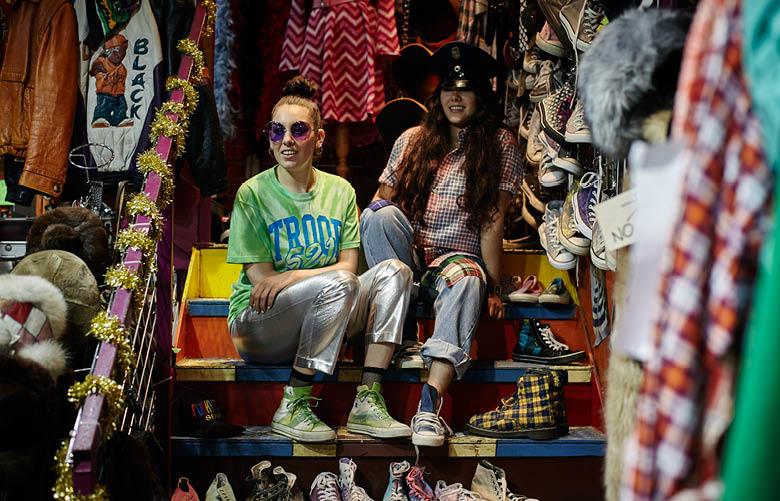 Camden Market fashion - Funky Town shop girls