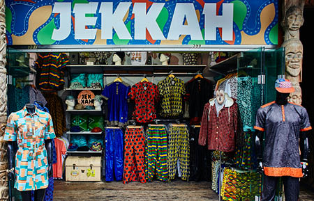 Camden Market fashion - JEKKAH shop front