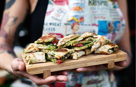 Camden Market food - Mr Piadina Italian flatbread