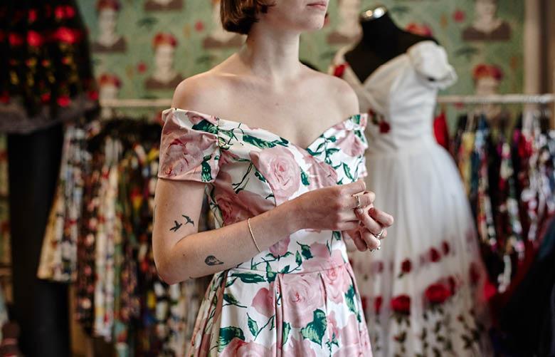 Camden Market fashion - The Arc shop girl